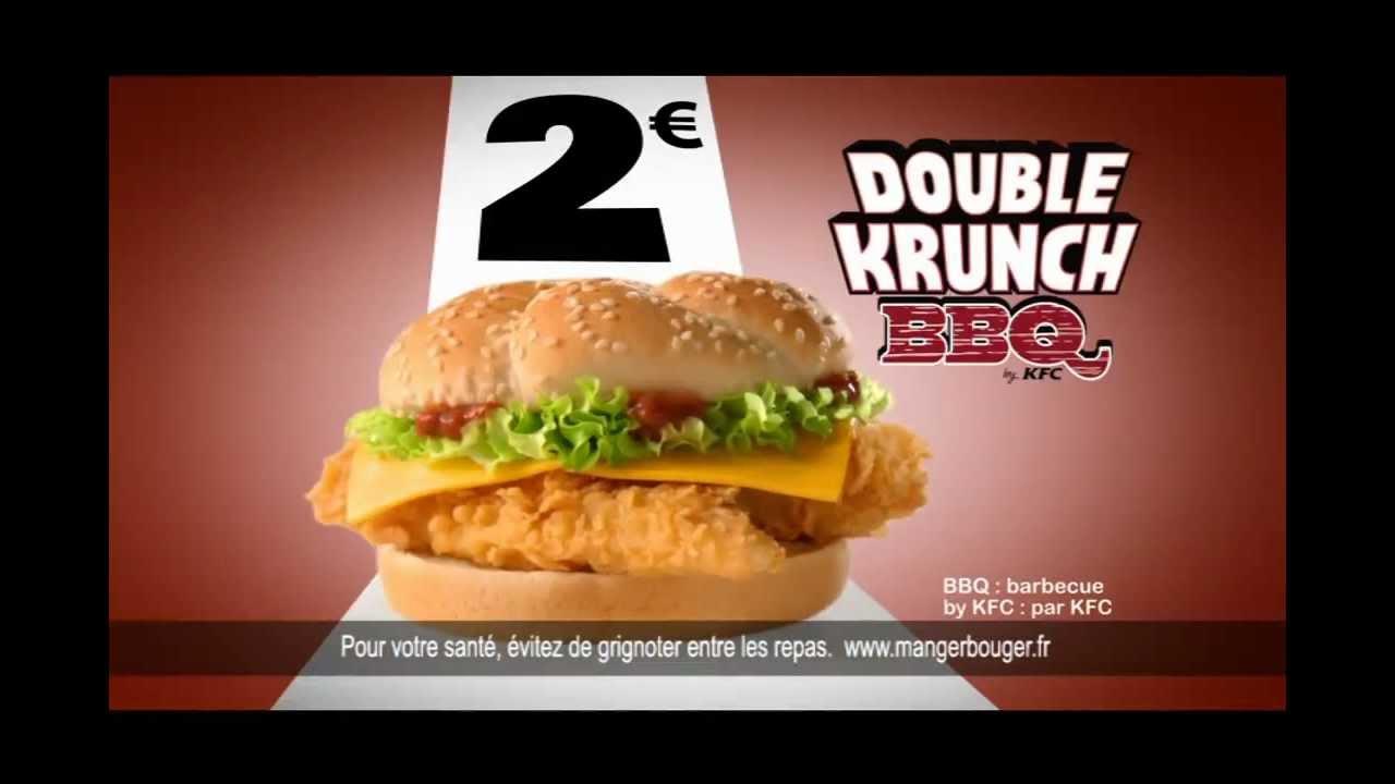 Double Krunch BBQ de chez KFC