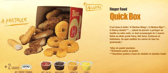Quick Box de chez Quick