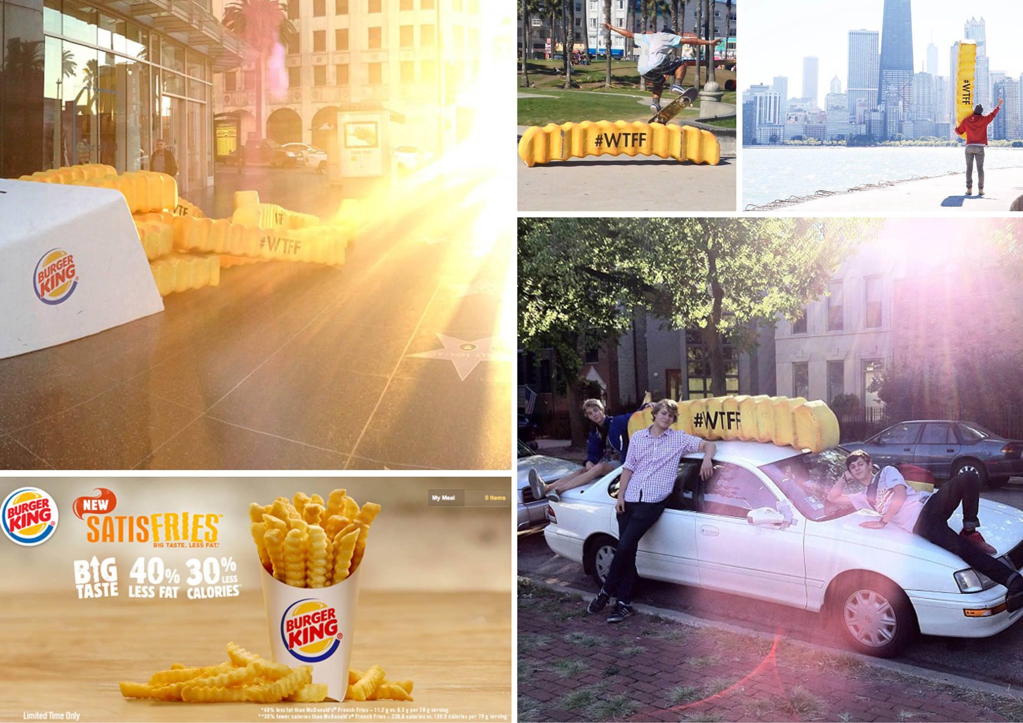 Burger king campagne satisfries