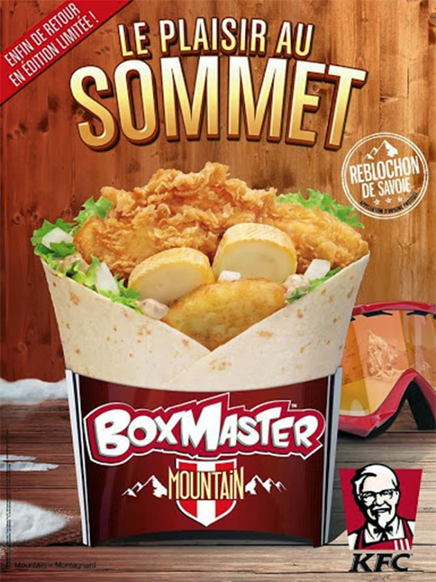 Retour du Boxmaster Mountain et du Double Krunch Texan Grill chez KFC