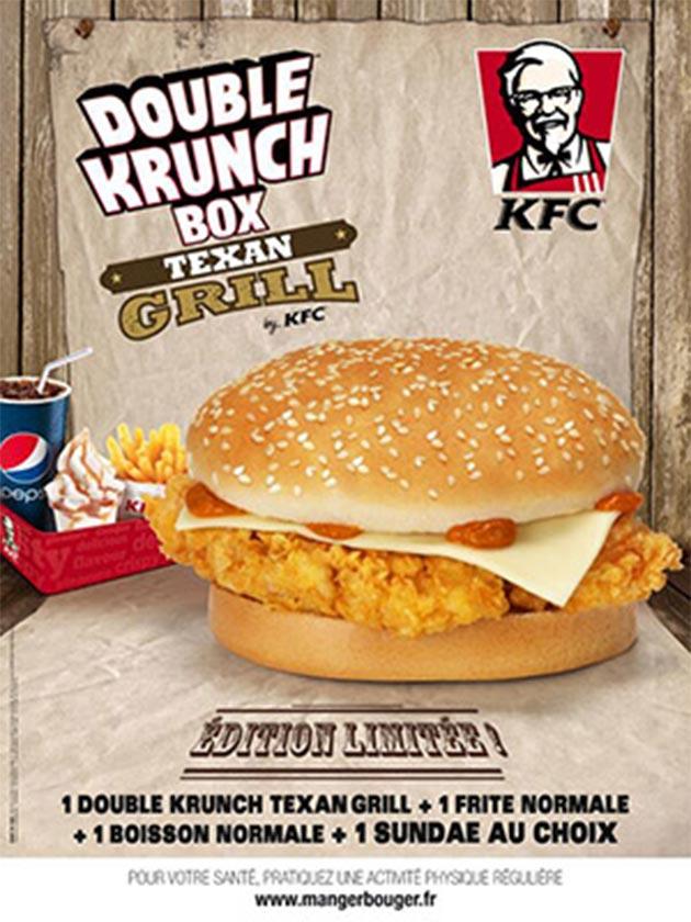Double krunch texan grill KFC